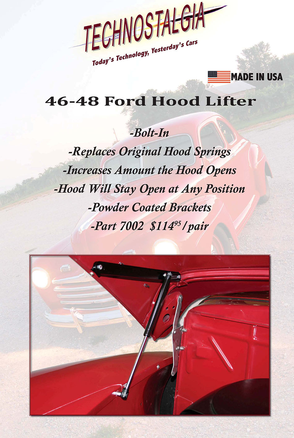 1946-48 Ford Hood Lifter